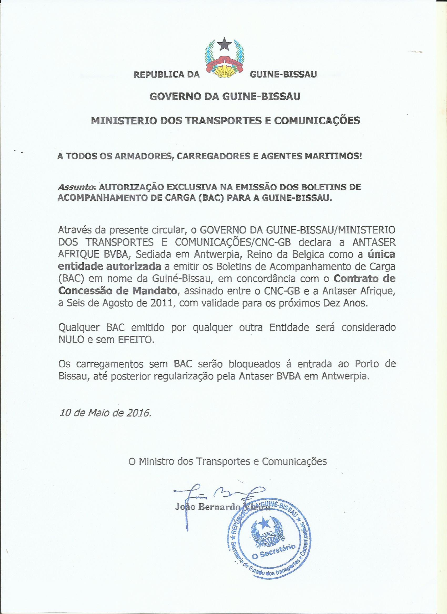 WT/TPR/S/362 • Guinea-Bissau - 284 - ANEXO 4 - GUINEA-BISSAU